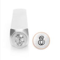 IMPRESSART - Diamond Ring Metal Stamp - 6mm
