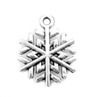 Tibetan Style Silver Snowflake Charm