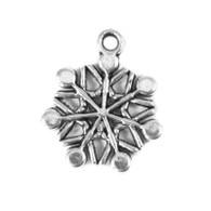 Tibetan Style Silver Snowflake Charm 20x16mm