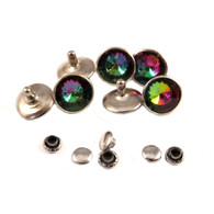 Rainbow Crystal Rivet 12mm