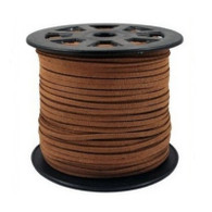 Faux Suede Cord 3x1.5mm - Light Brown
