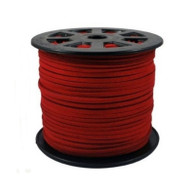 Faux Suede Cord 3x1.5mm - Red