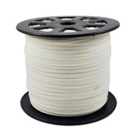 Faux Suede Cord 3x1.5mm - White
