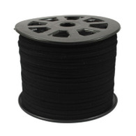 Faux Suede Cord 3x1.5mm - Black
