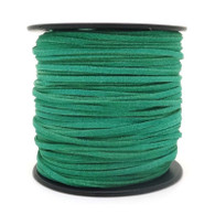 Faux Suede Cord 3x1.5mm - Green