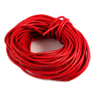 Red Round Real Leather Jewellery Cord 2mm