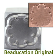 Beaducation Cloud Border Design Stamp 17.5x10mm