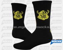 Custom Vikings Lacrosse Team Socks