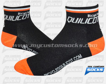 Custom Socks: Bicycles Quilicot A