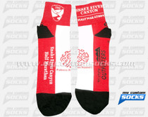 Custom Snake River Canyon Half Marathon Socks