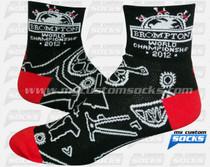 Custom Socks: Brompton Bicycles