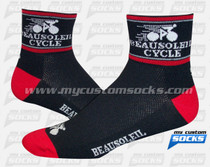 Custom Beausoleil Cycle Socks