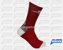 Custom Elite Socks: Rockets High School Wrestling Team
