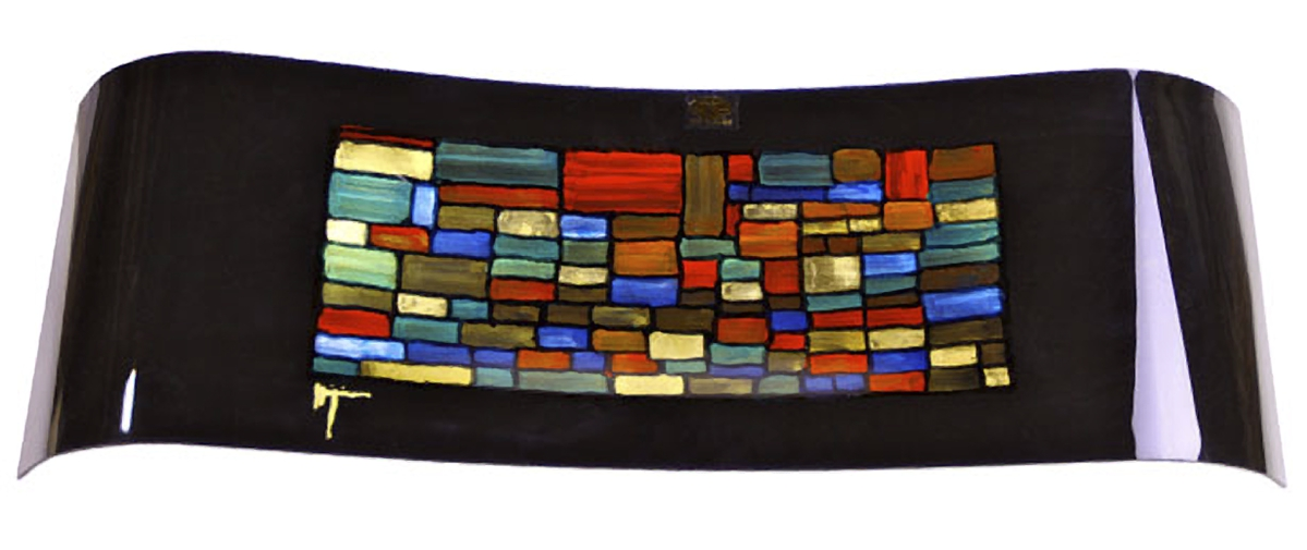 Mosaic and stained glass window inspired fused Glass Platter