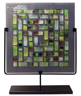 Decorative Square Mosaic Glass Panel 17 inch
