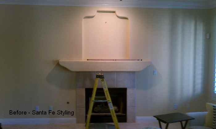 Room Makeover with Chalkville Mantel - Before Image