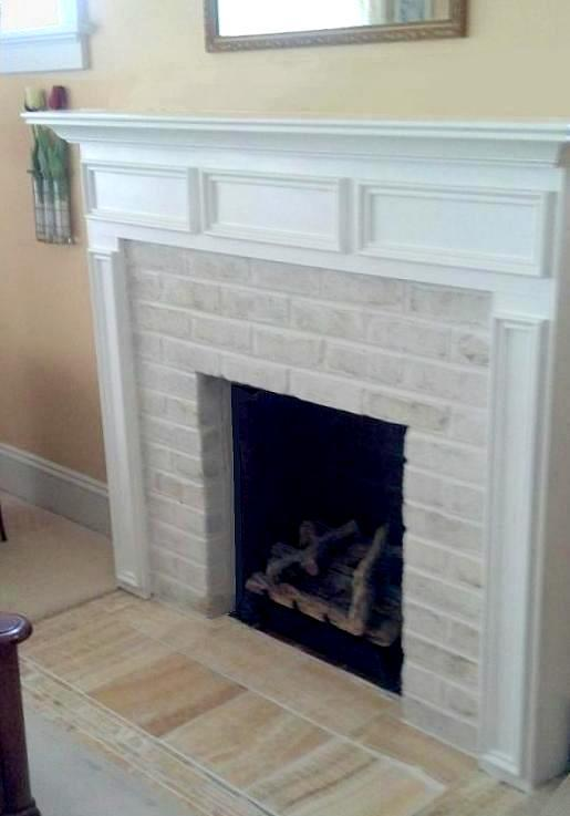 Fireplace Mantel Painted White | Remodel