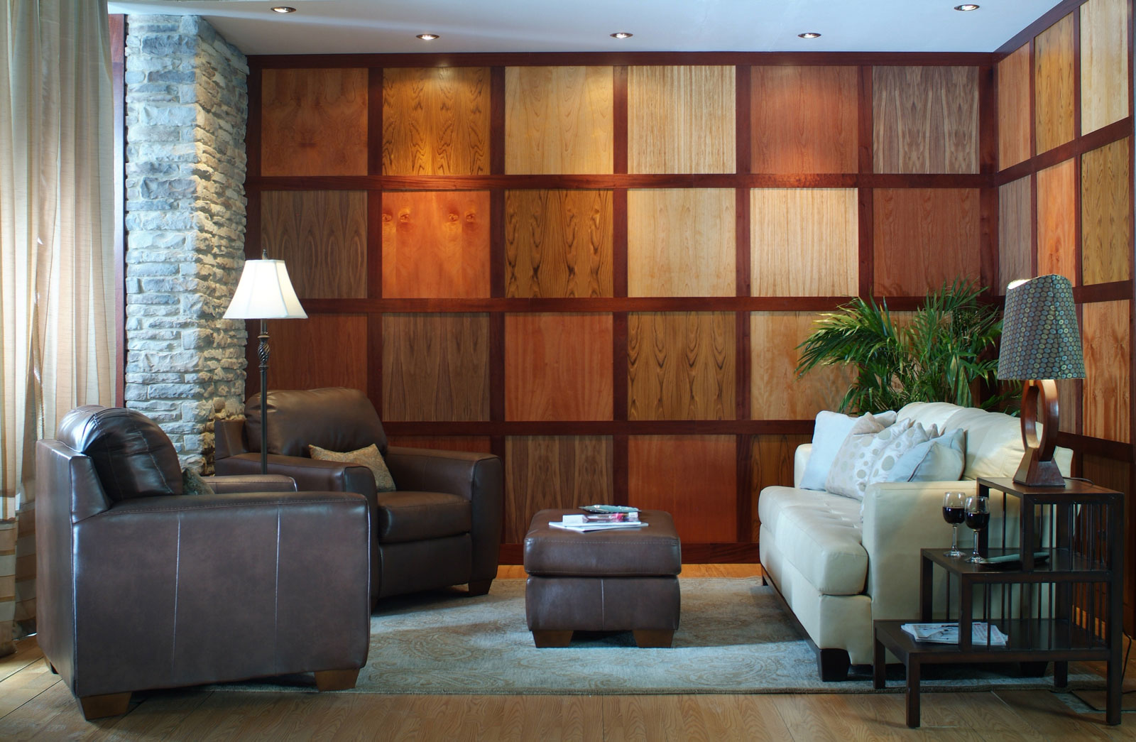 fine wood veneer paneling | unfinished | walnut | mahogany | cherry