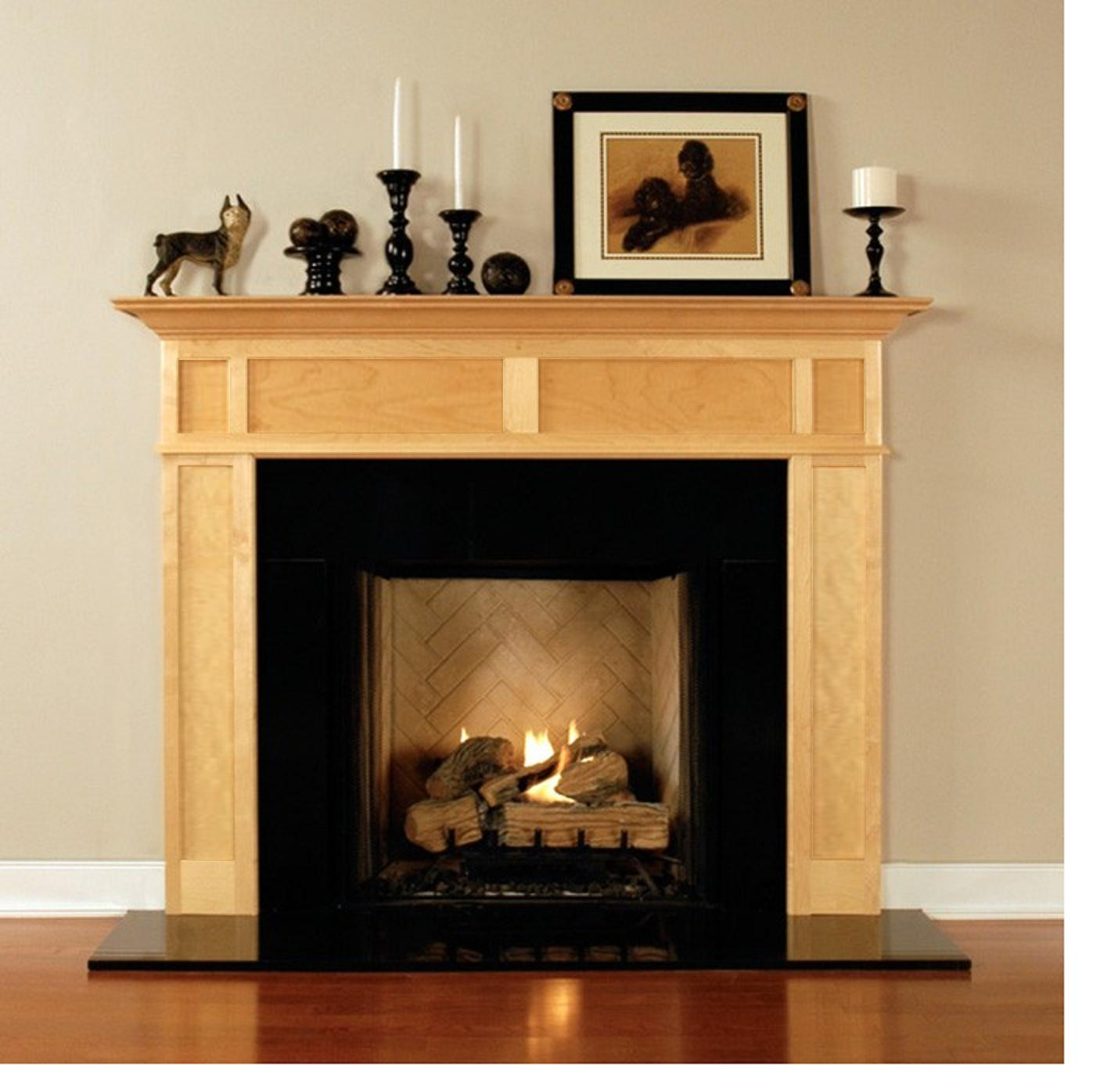wood fireplace mantels for fireplaces surrounds design the space. Black Bedroom Furniture Sets. Home Design Ideas
