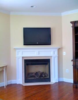 Corner Fireplace Mantel Ideas | Compton Fireplace Mantel