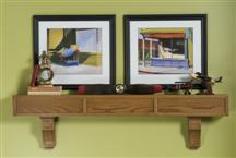 Craftsman Mission Style Wood Mantel Shelves