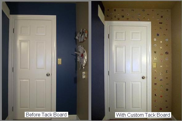 Designer Tack | Bulletin board | Before and After
