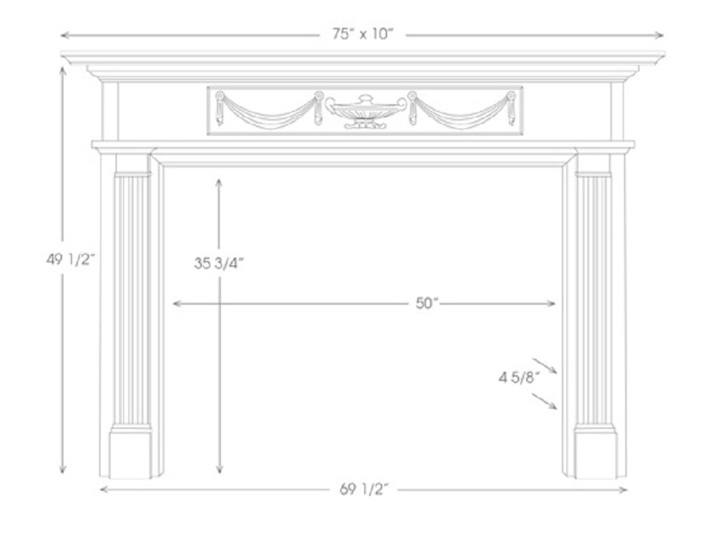 The Hamilton Mantel features some Greek Revival Elements