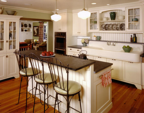 Creating a cottage kitchen with wood paneling - Design The Space