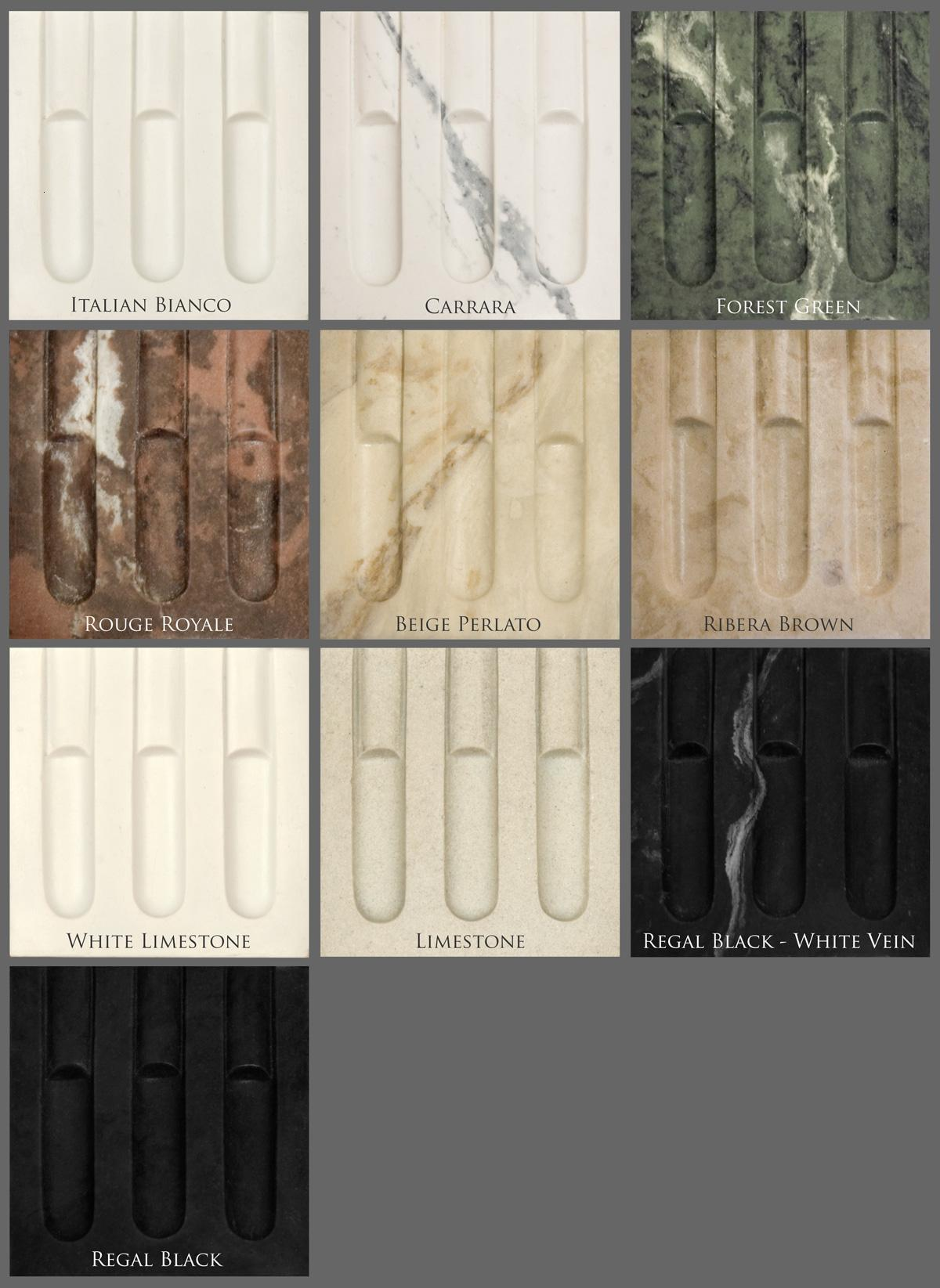 Marble Mantel Color Chart