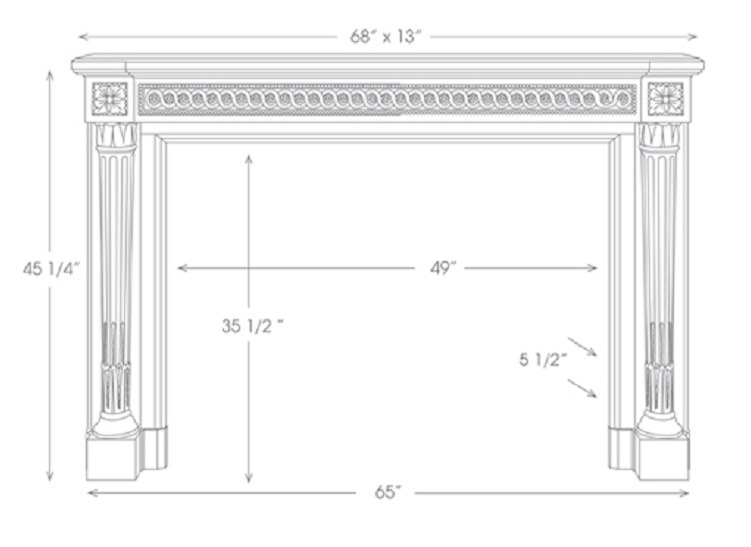 French Marble Fireplace Mantels The Versailles Louis Xvi 204