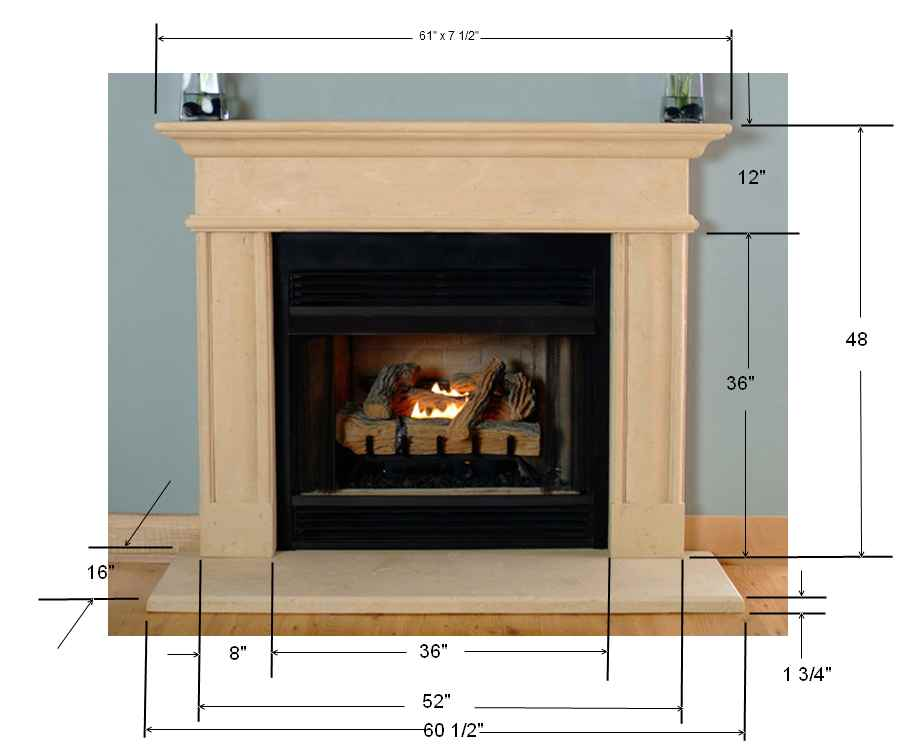 cast stone fireplace mantel surround vinemont