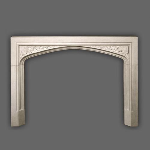 English Marble Fireplace Mantel   Hampton Court   Tudor HM200