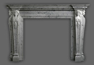 A marble mantel inspired by the Italian Renaissance