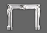 This beautiful Marble Mantel is a fine representation of Louis XIV styling. Italian Bianco