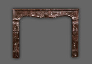 Savoy Louis XV Marble Mantel - Rouge Royale