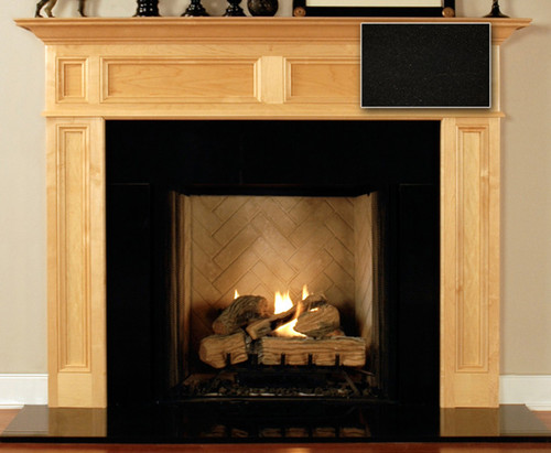 Fireplace Surround Facing | Absolute Black Granite
