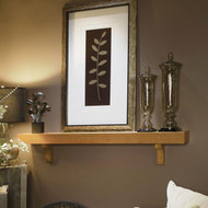 The Bellemy mantel in Oak comes with two corbels at no additional price
