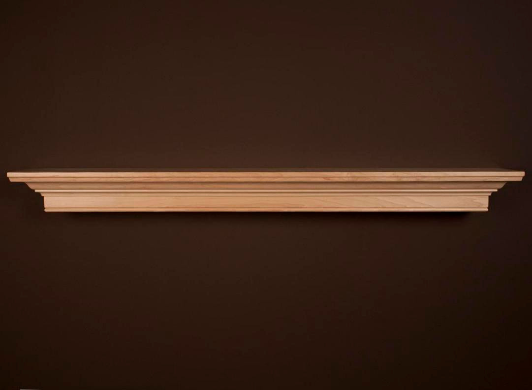 The custom daphne fireplace mantel shelf has modern lines - Types fireplace mantel shelves choose ...