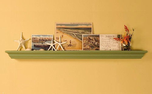 "Simple yet attractive mantel shelf. Available only in a paintable wood, only in 72"" length x 7 1/8"" depth"