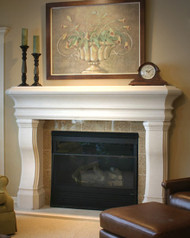 Santa Monica, a Traditional and Transitional Stone Mantel