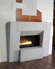 "Standard 53 1/2"" Tall Loft Stone Mantel with optional block hearth"