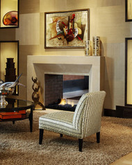 The Metri Stone modern fireplace mantel