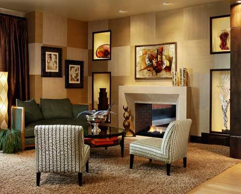 The Metri Stone contemporary fireplace mantel