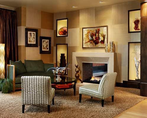 The Metri Stone contemporary fireplace mantel