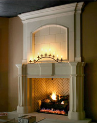 Arched recessed overmantel