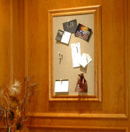 Designer Tack bulletin boards with custom sized basswood frames.