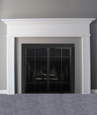 the killen mantel style mantel on sale is painted white