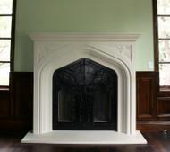 The Harvard Stone Mantel, pure Tudor styling (custom doors not included)