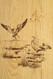 Ducks landing in this wall paneling scene