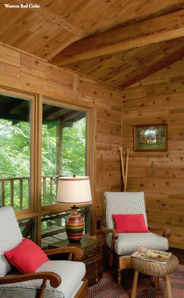 Rustic Western Red Cedar paneling - for a cozy cabin